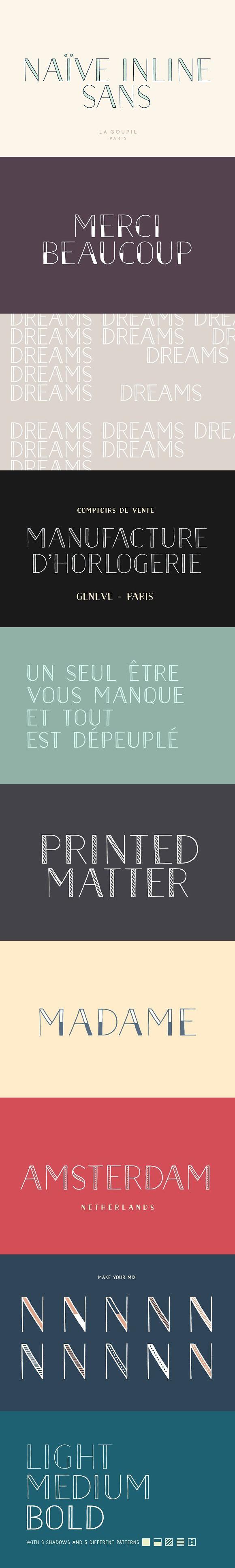 Download Naive Inline Sans Font Collection   Free script fonts ...