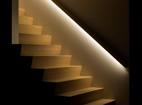 Deco stairs banister with led illumination lighting images