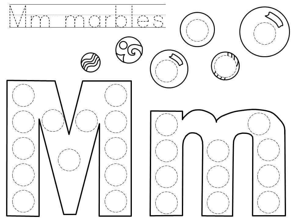 doadotletterMprintablejpg 960 720 – Letter M Worksheet for Preschool