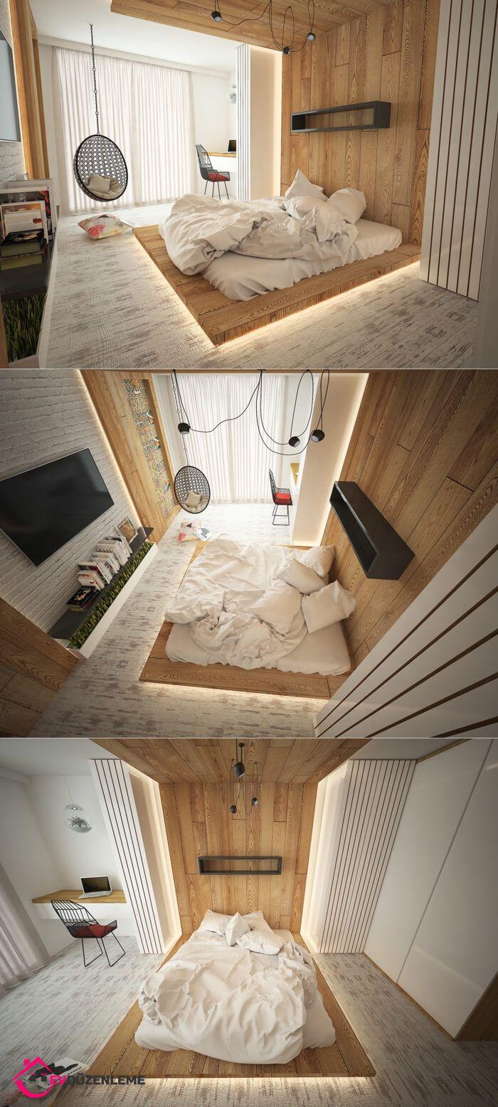 Aklınızı Başınızdan Alacak 28 Harika Yatak Odası Aydınlatma Fikri #lightbedroom