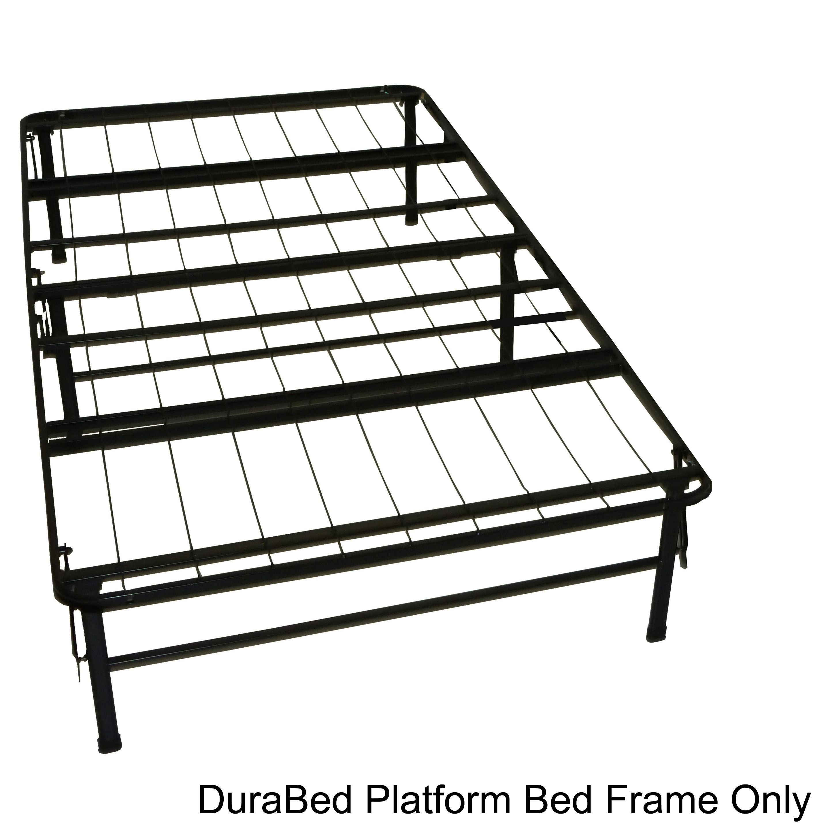 Durabed Twin Extra Long Size Heavy Duty Steel Foundation & Frame In One