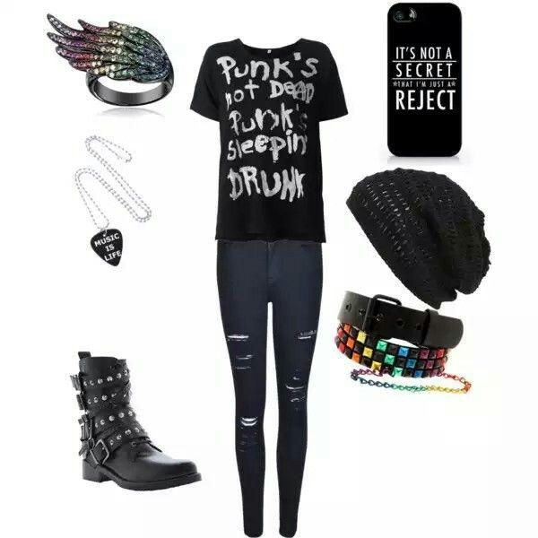 Punk school outfit - Polyvore | Goth / Gothic Paste Punk ...