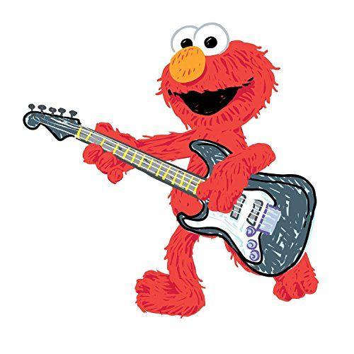 RoomMates RMK1928GM Sesame Street Elmo Rock n Roll Guitar Peel and ...