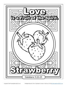 fruit of the spirit faith coloring page - Fruit Spirit Coloring Page