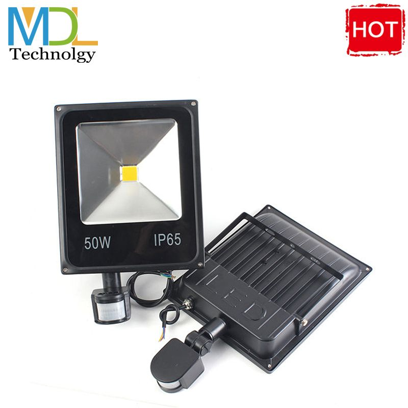 Find More Floodlights Information About Ultrathin 10w 20w 30w 50w Led Flood Light Searchlight With Pir Motion Sensor Flood Lights Led Flood Waterproof Outdoor