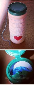 $1 DIY // Yarn Container (Cat Proof) #diyyarnholder