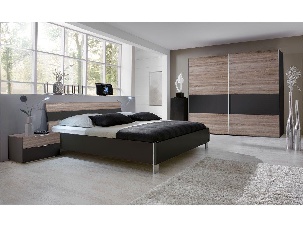 Schlafzimmer Komplett Saragossa Hochglanz SchwarzWeiss in
