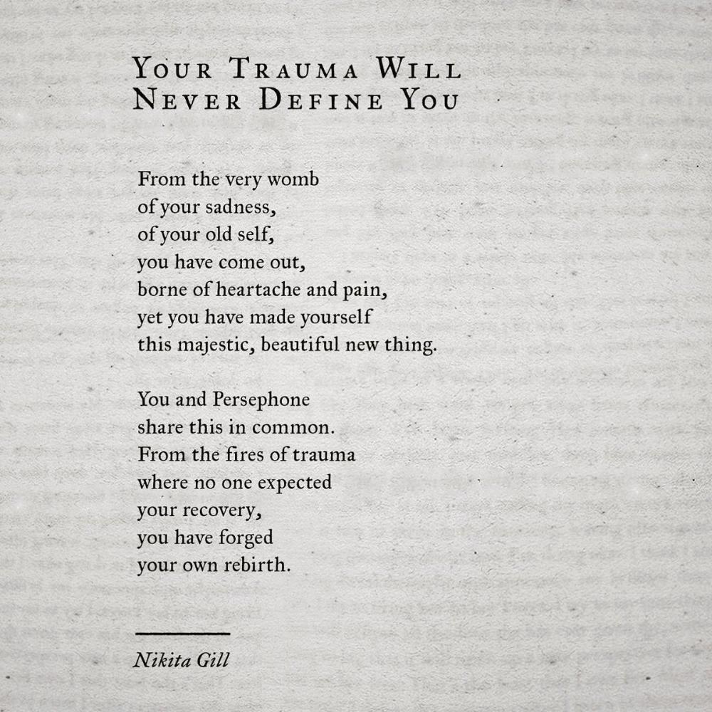 Nikita Gill is writing on Twitter