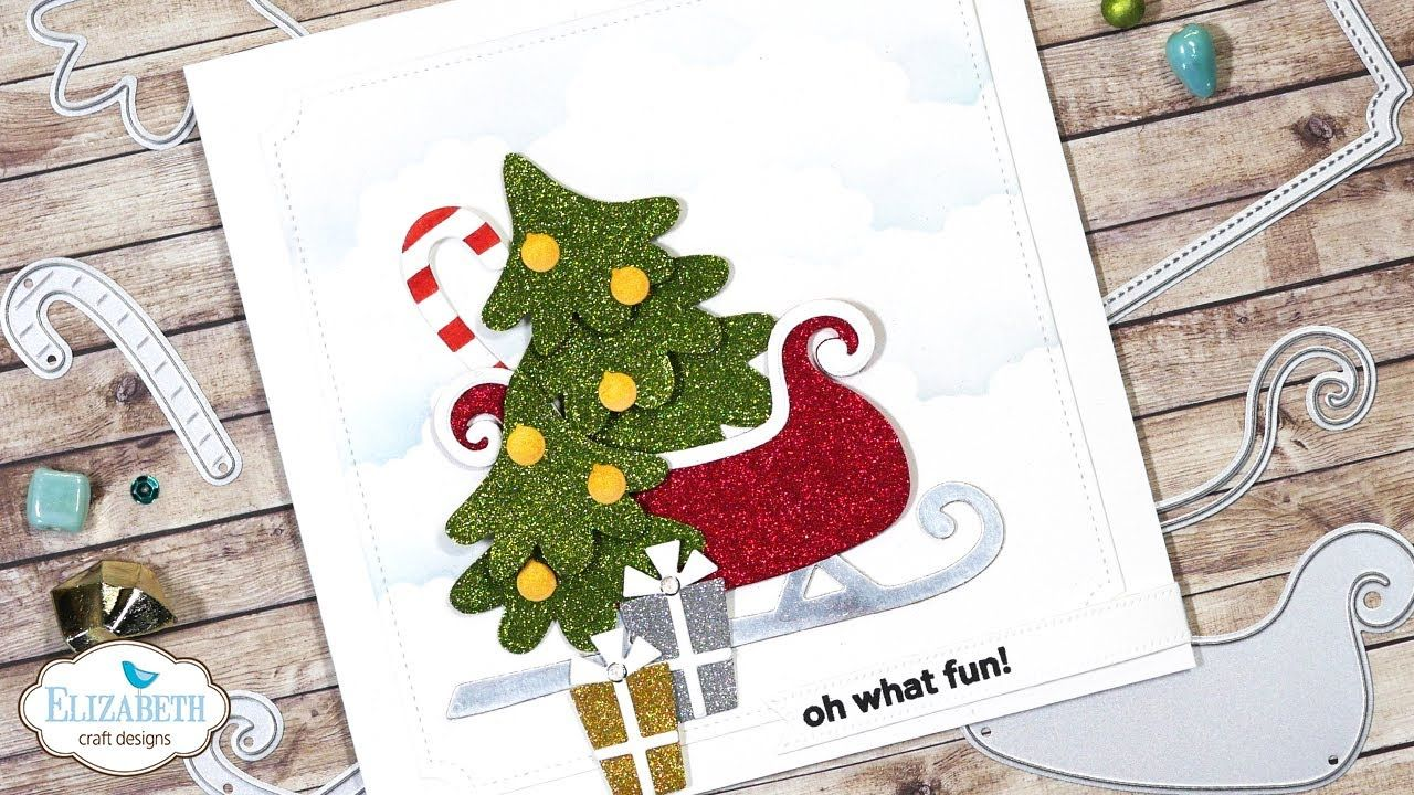 sparkling sleigh christmas card  youtube with images
