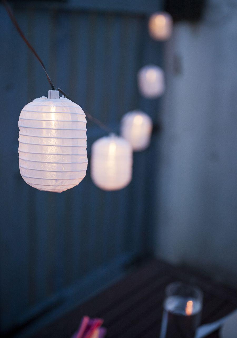 10 Warm White Led Chinese Lantern Solar Fairy Lights