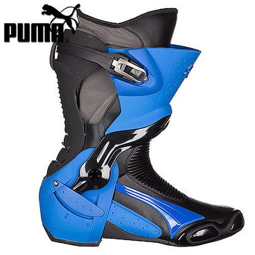 PUMA 1000 v3 racing motorcycle boots, black blue, BRAND NEW