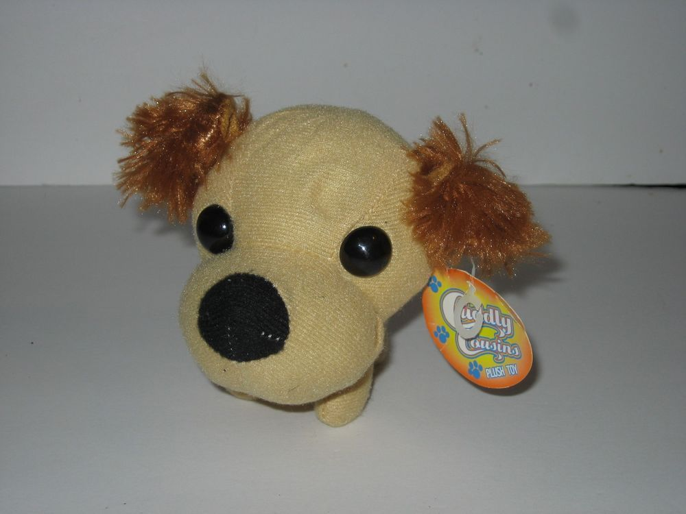 Cuddly Cousins Plush Brown Dog Big Head Small Body Miniature 5