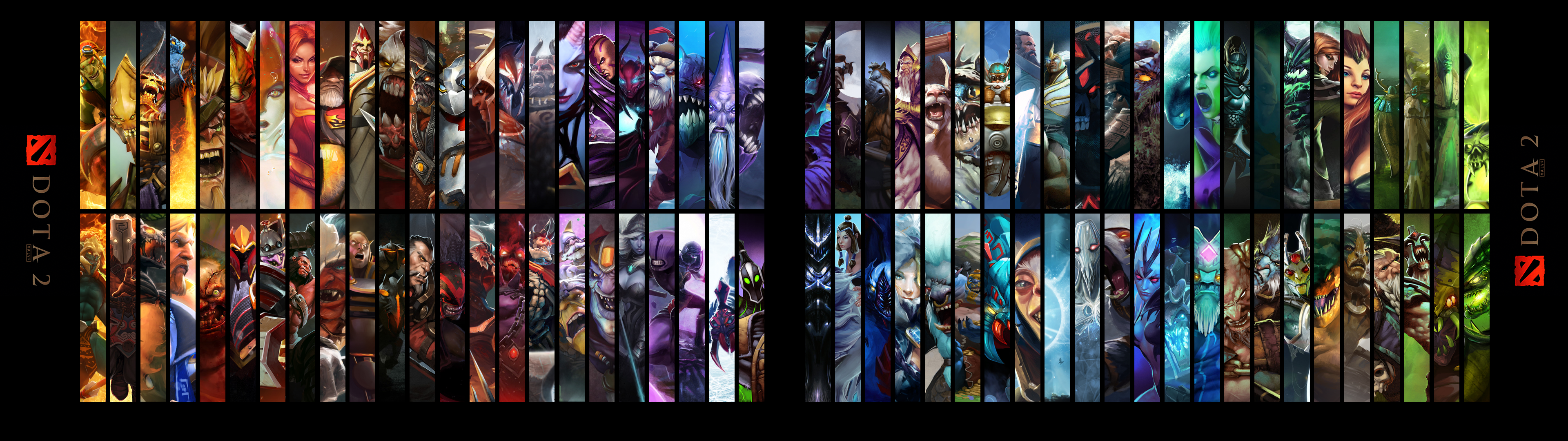 Dota2 Hero Wallpaper V2 3840x1080 Dual Monitors By Imkb