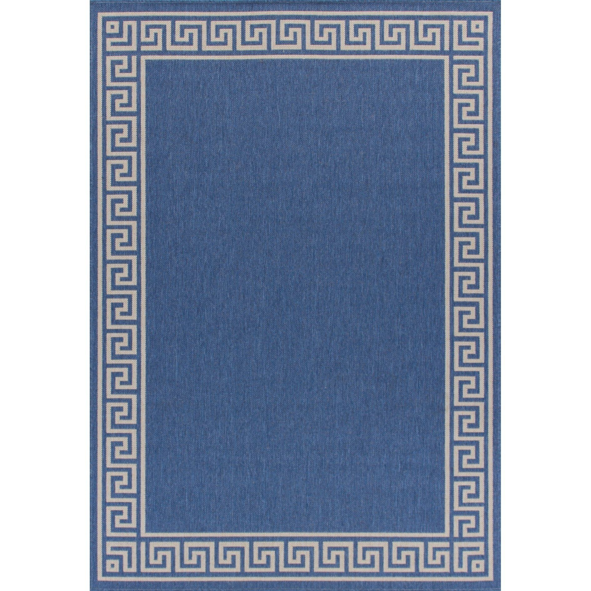 Rug And Decor Canyon Indoor Outdoor Weather Proof Traditional Rug Blue Blue Off White Blue Cream 4 X 6 Polypropylene Abstract Indoor Outdoor Area Rugs Outdoor Area Rugs Rugs