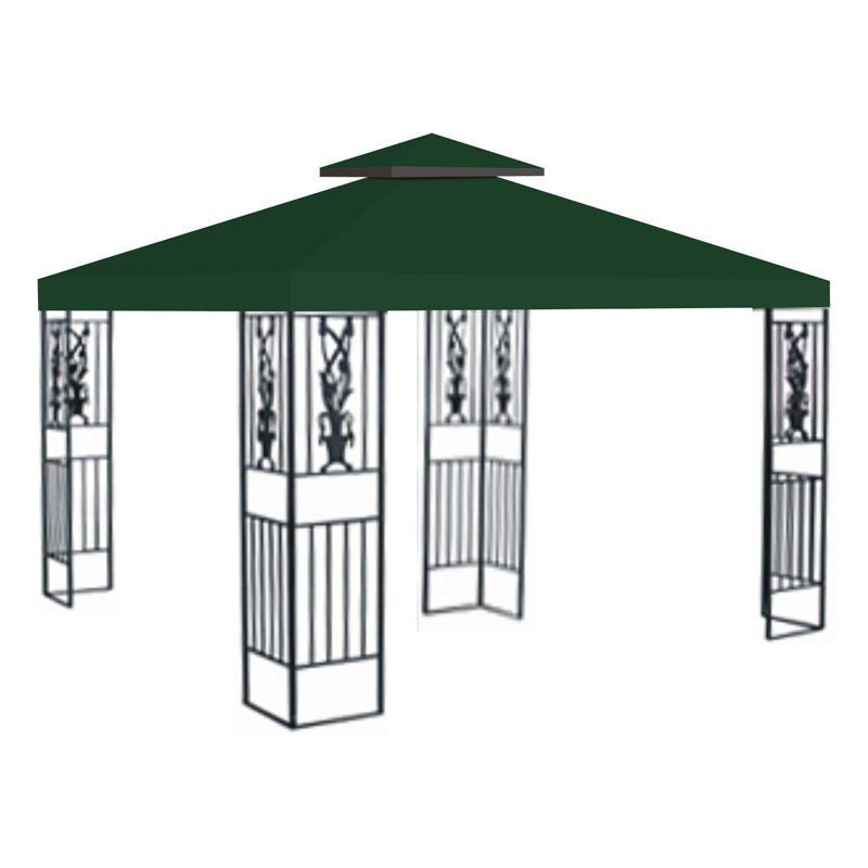 Sunrise 10 X 10 Ft Gazebo Replacement Double Tier Canopy Cover Green G246 Green Gazebo Replacement Canopy Gazebo Patio Swing Canopy