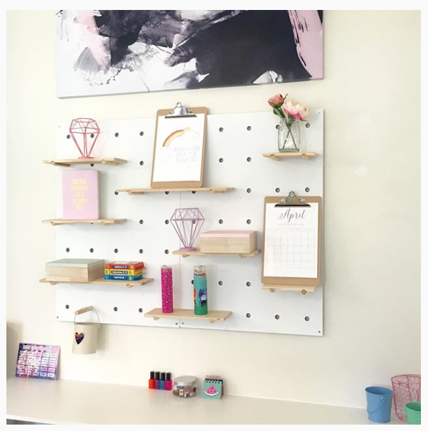 Kmart Pegboard How To Style It Peg Board Kmart Decor Girls Bedroom Makeover