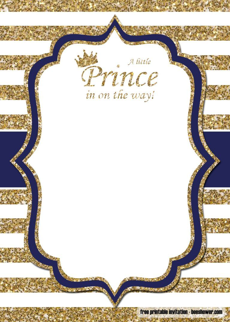 photograph about Free Printable Prince Baby Shower Invitations titled Free of charge Prince Little one Shower Invites Templates Cost-free