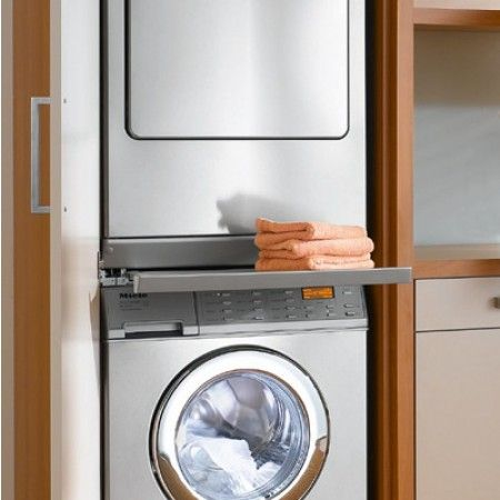 Haushaltsraum Trockner Und Waschmaschine Ubereinander Wtv419 Miele Stacking Kit W Pull Out Tray Miele Home Appliances Laundry