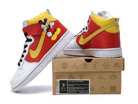promo code 528d8 3a480 Mickey Mouse High Tops Nike Dunk Disney Costume Shoes