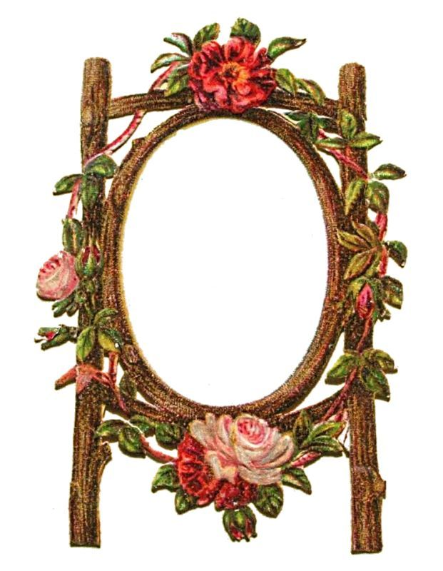 Victorian Rustic Roses Frame