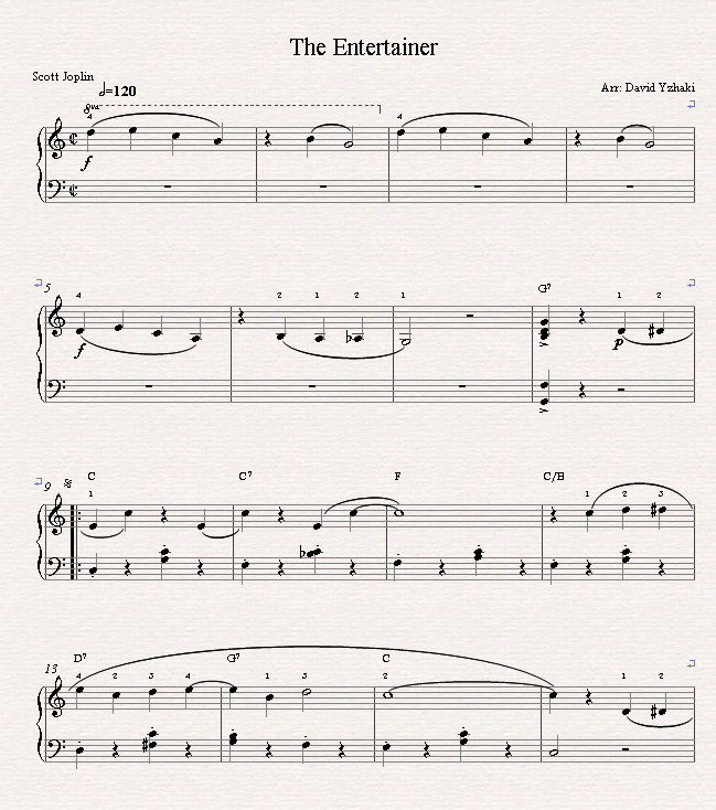 Piano Sheet Music For Shenandoah: Here's The Entertainer Sheet Music And Piano Tutorial. It