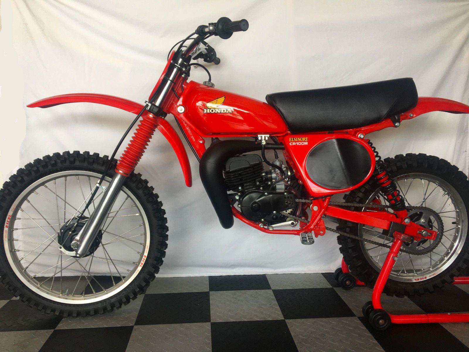 eBay: 1975 Honda CR 1975 1977 Honda CR125 - CR100 Sleeve Down Restored  Vintage Motocross AHRMA #motorcycles #biker