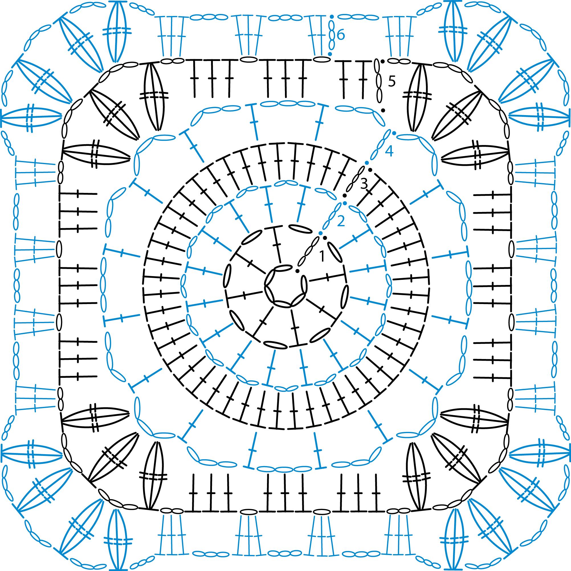 Granny Square patterns - Simply Crochet | Квадраты крючком схемы ...