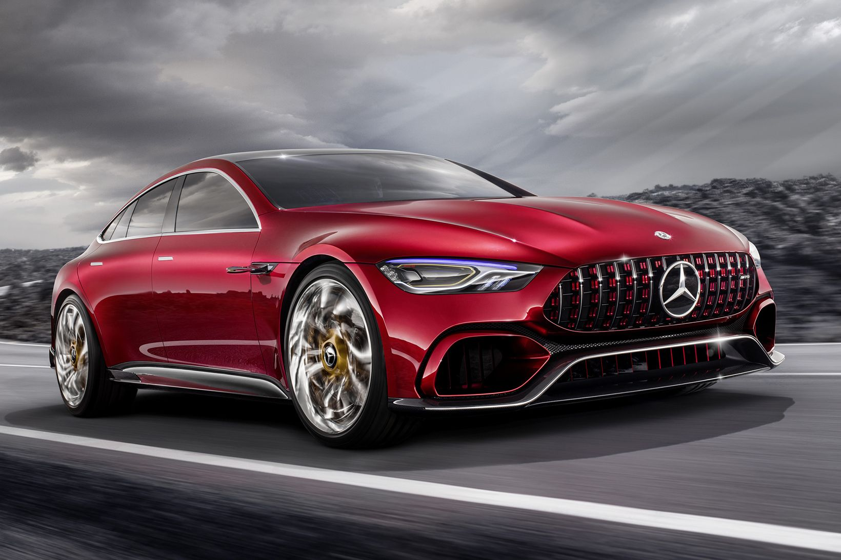 Mercedes Amg Introduces A Four Door Gt Concept At The Geneva Motor