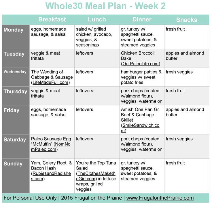 The Busy PersonS Whole Meal Plan  Week   Whole Meals And Easy