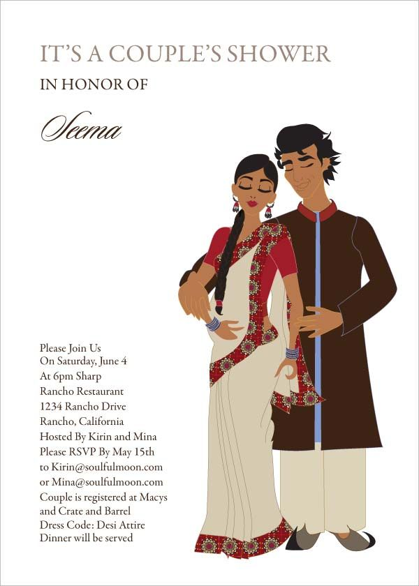 Desi Duo - Indian Baby Shower Invitations by #Soulfulmoon | Indian ...