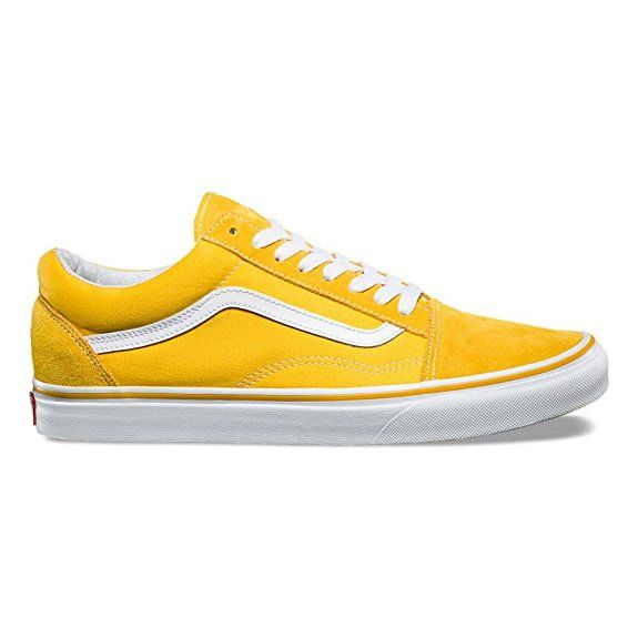 Vans Shoes - Old Skool (Suede Canvas) yellow white size  39  057bcc77639f5