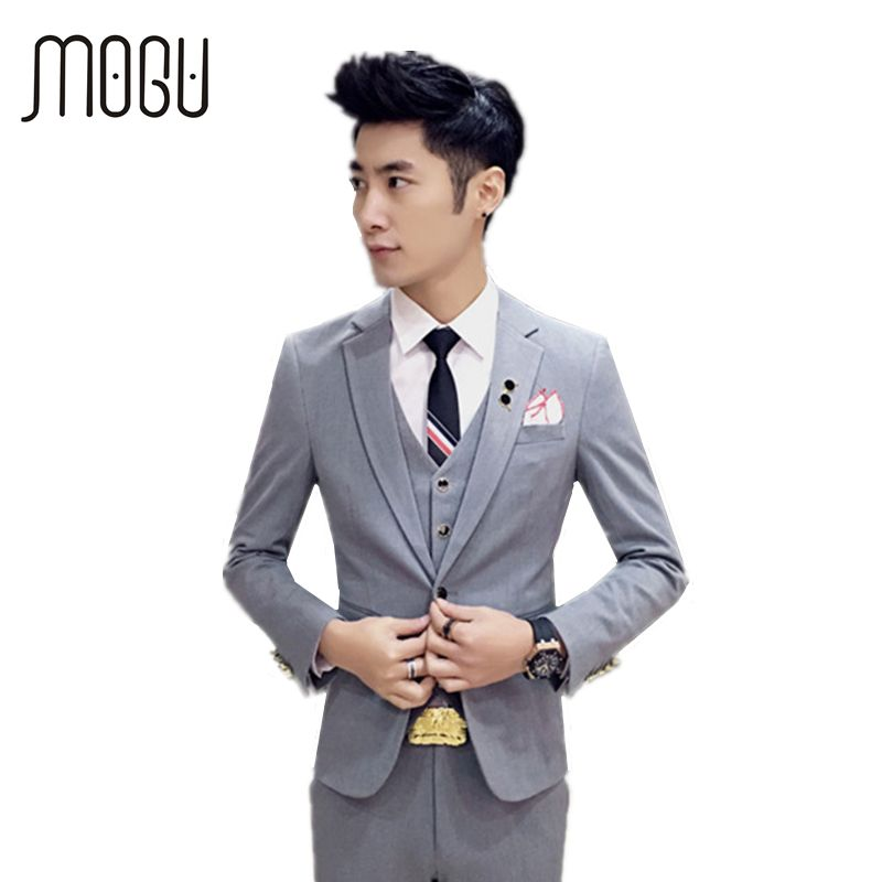 Free Shipping] Buy Best MOGU New Wedding Suits For Men Three Piece ...