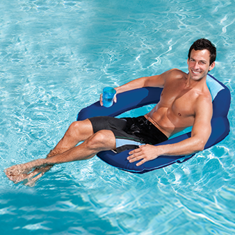 Swimways spring float sunseat fabric covered - Swimming pool floating lounge chairs ...