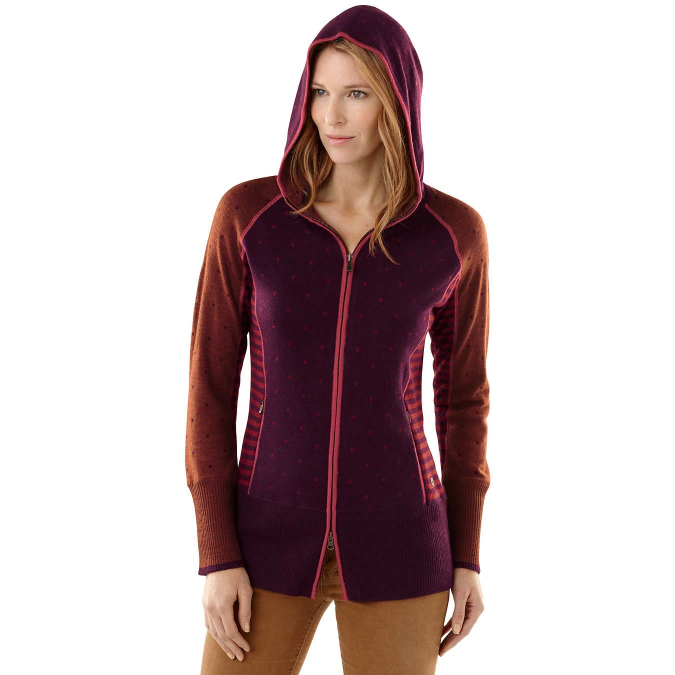 SmartWool® Women's Mini Dot Full Zip Hoody Sweater   Merino Blend   $220
