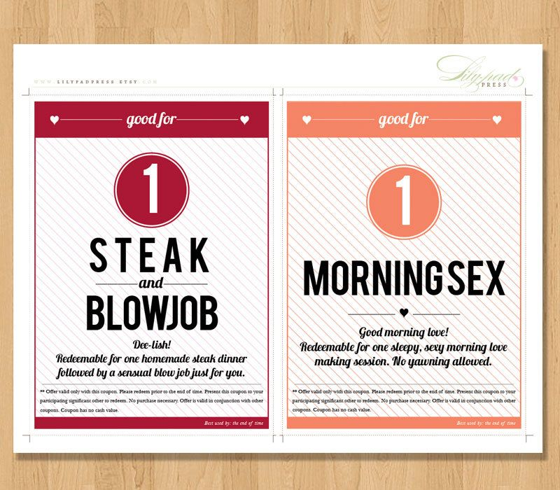 Adult Love Coupon Book FOR HIM DIY Printable by lilypadpress ...