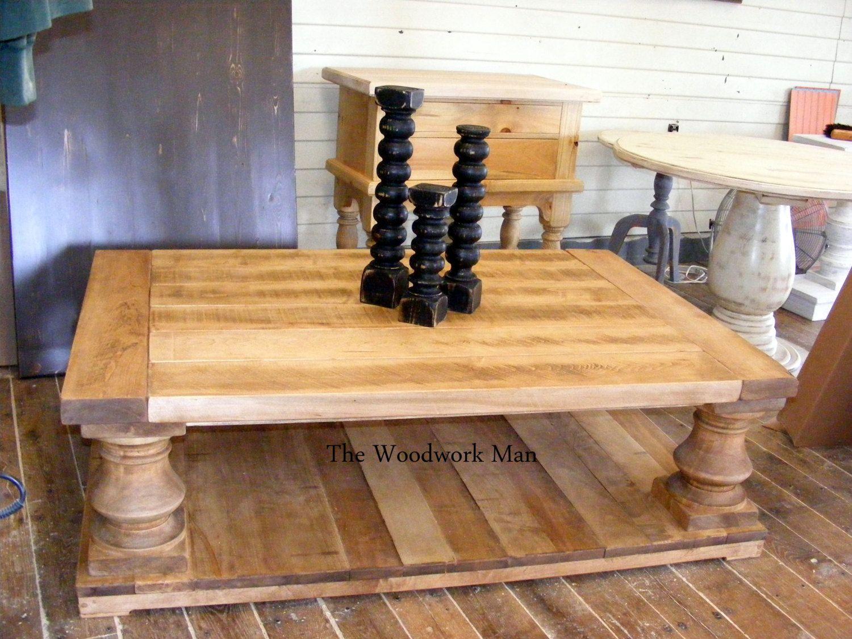 solid maple wood balustrade coffee