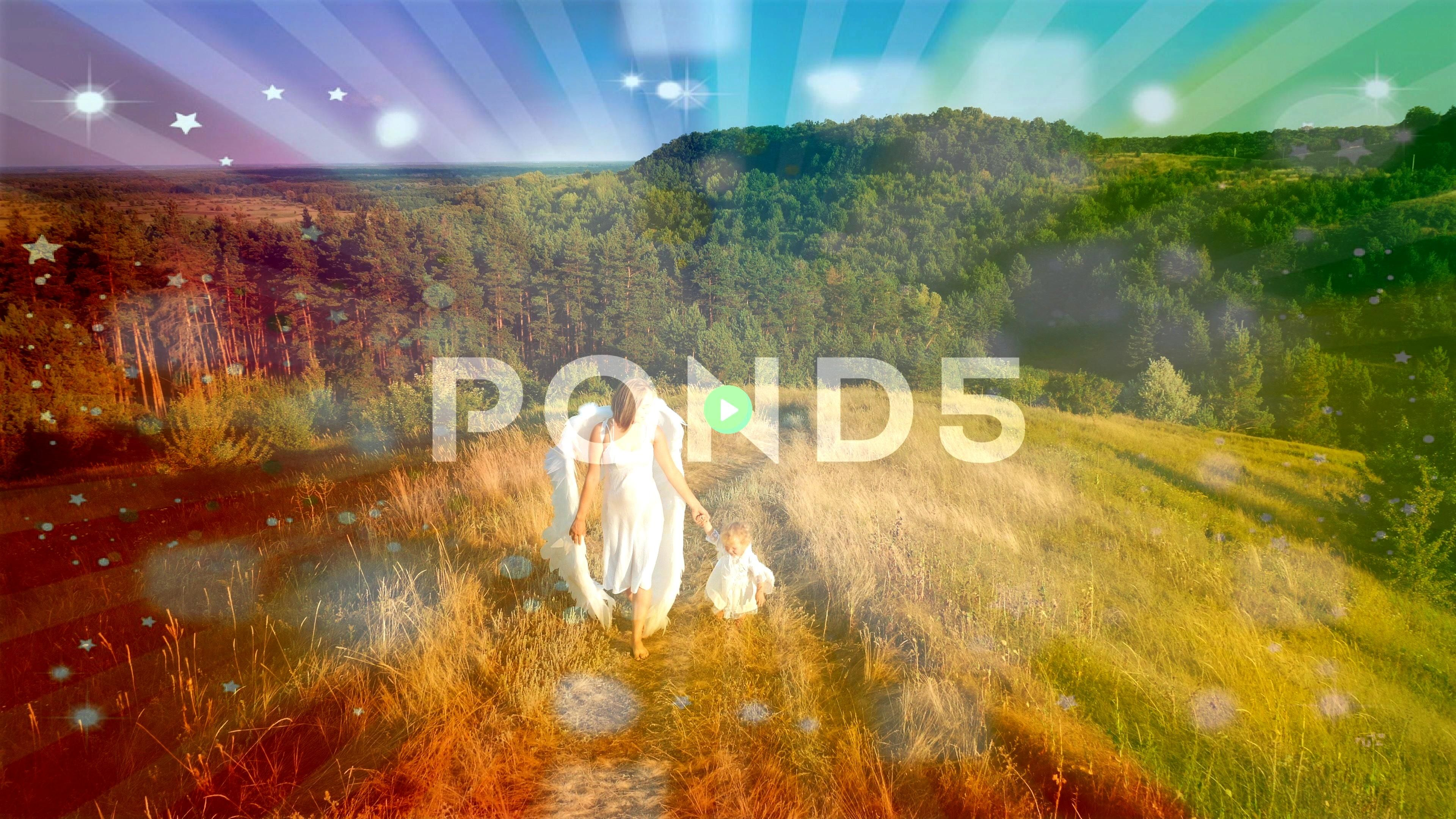 with child dressed as angels walk in nature Stock Footage dressedangelsMotherchildMother with child dressed as angels walk in nature Stock Footage dressedangelsMotherchil...
