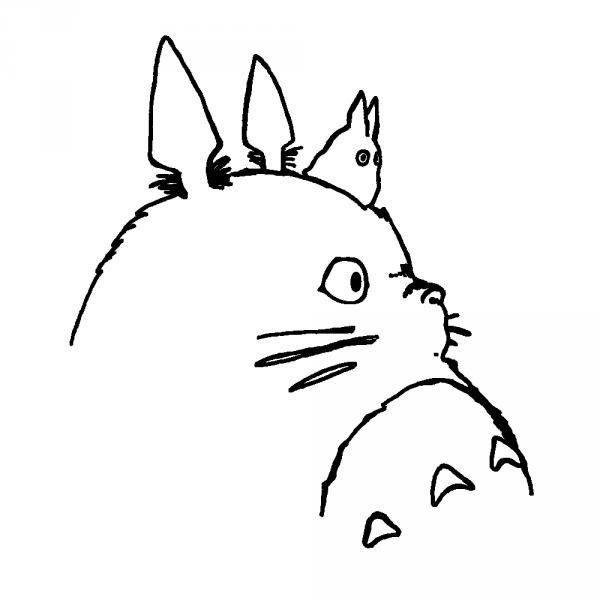 Stickers Totoro スケッチ ジブリ作品 トトロ