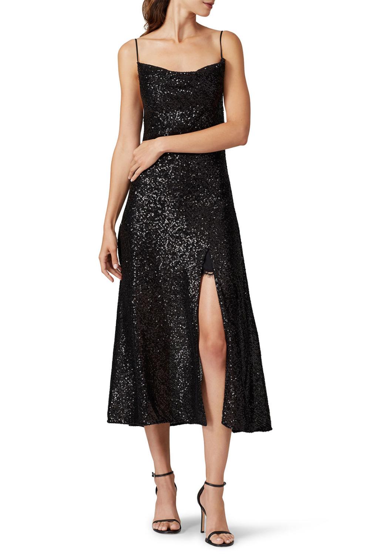 Jonathan Simkhai Sequin Cowl Neck Slip Dress Dressy Summer Dresses Dresses Slip Dress