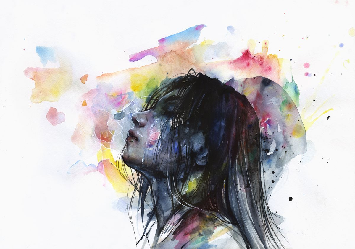 Watercolor artists names - Artist S Name Agnes Cecile Artwork S Title The Layers Within Medium Watercolor Acrylic