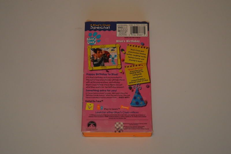 Blues Clues Blues Birthday Blues Clues Vhs Pinterest Blues