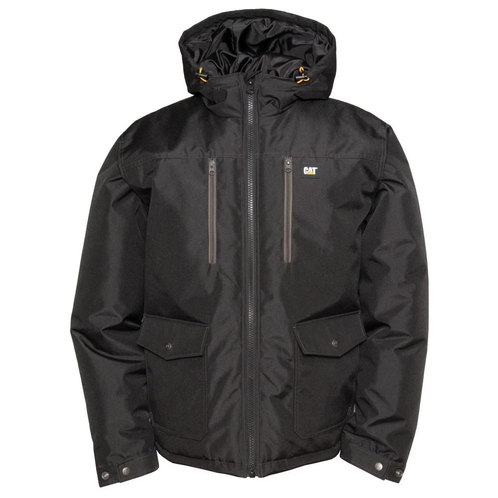 Caterpillar Aspen Men S 2x Large Black Polyester Water Resistant Insulated Jacket Size 2xl Water Resistant Jacket Work Jackets Jackets
