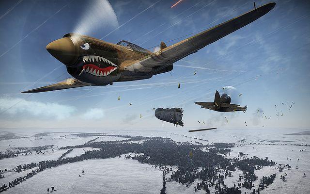 P-40 Kittyhawk vs P-39 Airacobra by Wake Up Mr Freeman !, via Flickr