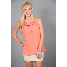 So Many Options Tank-Coral - $42.00