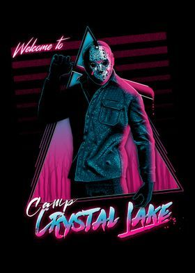 'Welcome to crystal lake' Poster Print by Denis Orio Ibañez | Displate
