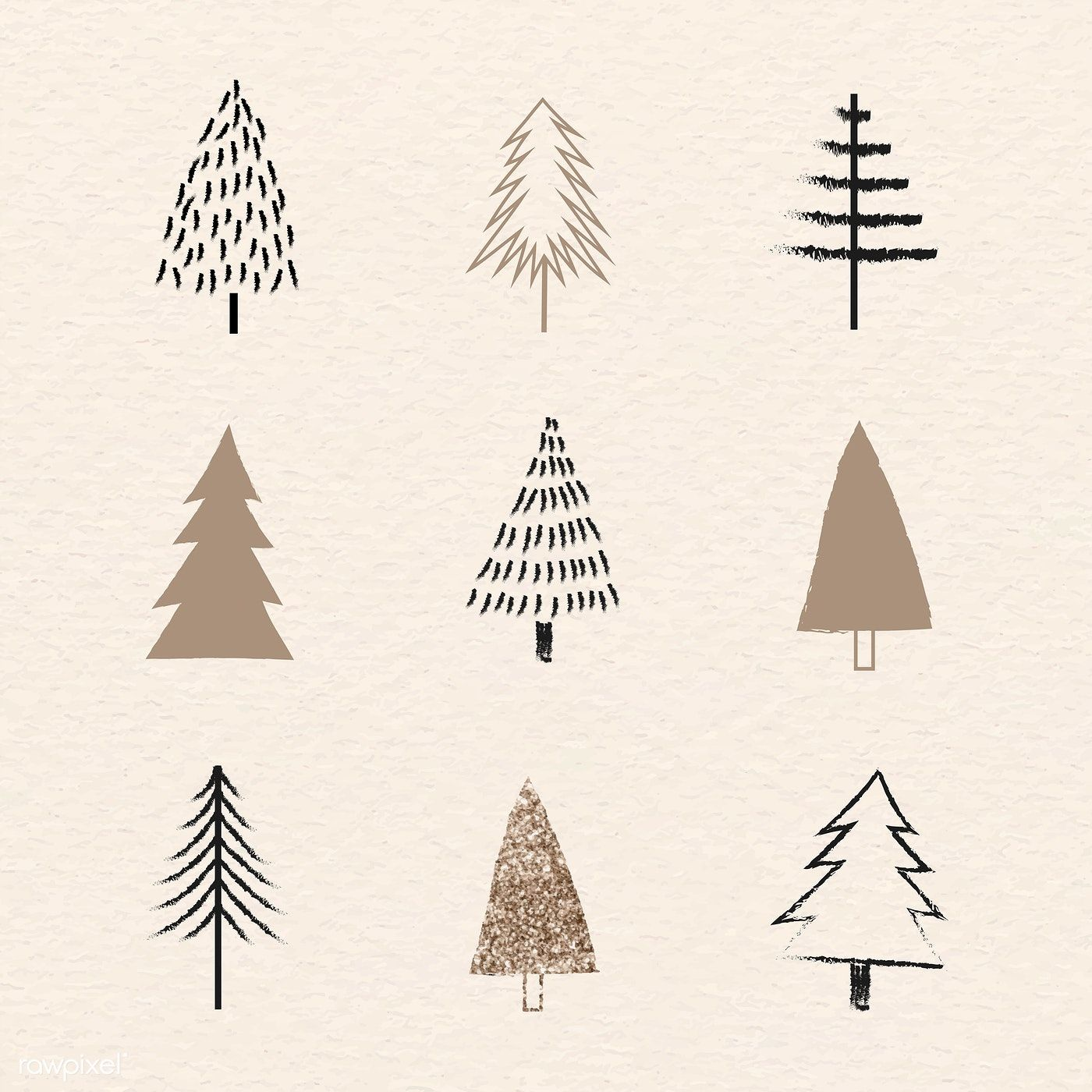 Download Premium Vector Of Christmas Elements Doodle Pattern Vector 1228230 Doodle Patterns Christmas Drawing Christmas Decorations Drawings