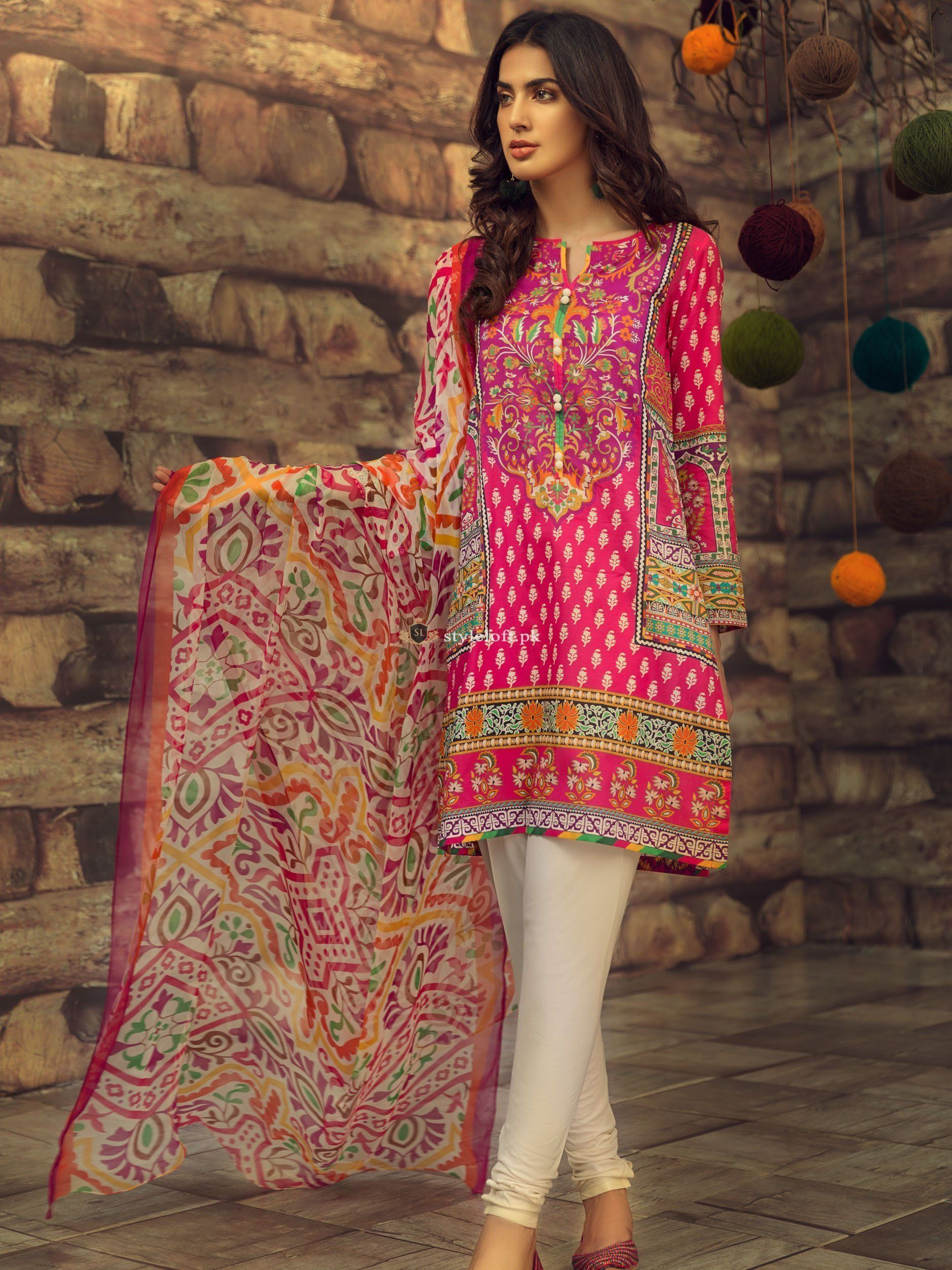 f39ff4dae5 Limelight Embroidered Lawn Unstitched 3 Piece Suit Folk-Magic #StyleLoft  #womensclothing #fashion2019