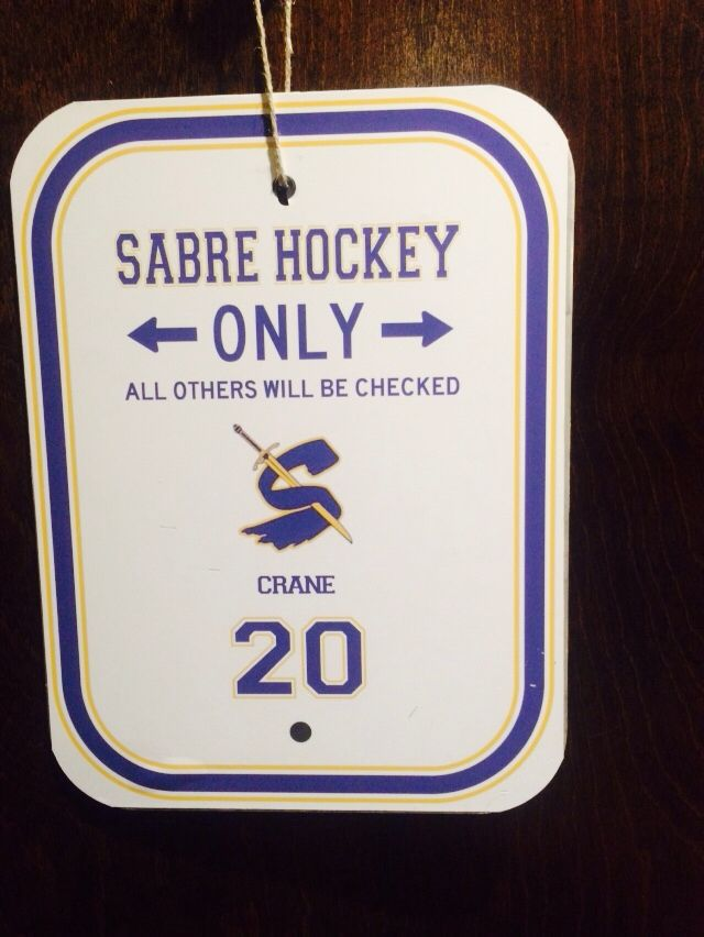 Hockey Tourney Door Sign Make In Team Colors With Redwing Logo