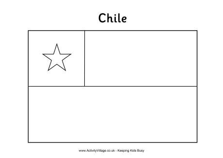 Chile Flag Colouring Page Flag Coloring Pages Chile Flag South America Flag
