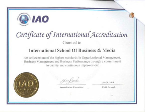 Certificate Of International Accreditation Certificate Of ...
